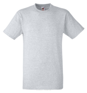 Fruit Of The Loom Heavy Cotton T Grey Heater
