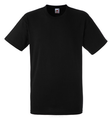 Fruit Of The Loom Heavy Cotton T Black